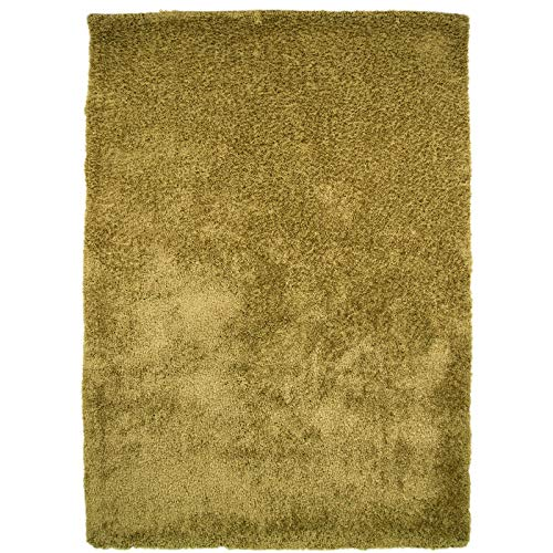 Just Contempo Uni Shaggy Teppich, grün, 120x 170cm -