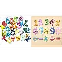 KidsHobby® I numeri magnetici Magneti frigo in legno divertimento colorato giocattoli educativi dei bambini