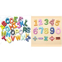 KidsHobby® Números magnéticos de madera imán de frigorífico diversión coloridos juguetes de los niños educativos