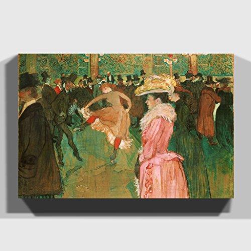 BIG Arty Pie Henri De Toulouse-Lautrec at The Moulin Rouge The Dance Canvas Print, Multi-Colour, 30...
