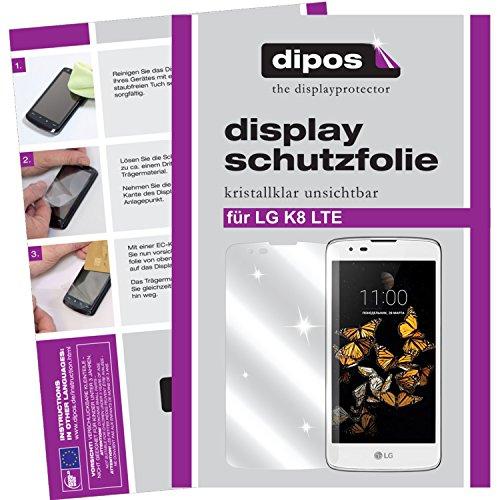 dipos I 6X Schutzfolie klar passend für LG K8 LTE Folie Bildschirmschutzfolie