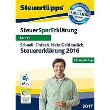 SteuerSparErklärung 2017 für Lehrer - Mac-Version (für Steuerjahr 2016)