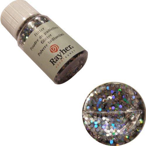 rayher-39422610-ologramma-pagliette-2-mm-pet-flaconcino-10-ml-brill-argento