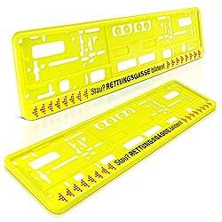 2 Stück Chrom Kennzeichenhalter Schildhalter Nummernschildhalter auch zum Kürzen