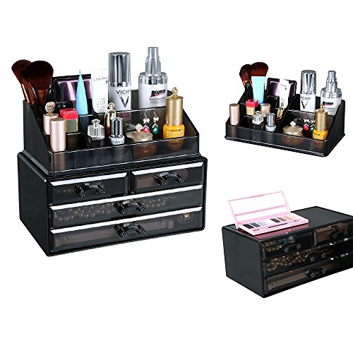 preisvergleich songmics kosmetik aufbewahrung organizer 4 schubladen willbilliger. Black Bedroom Furniture Sets. Home Design Ideas