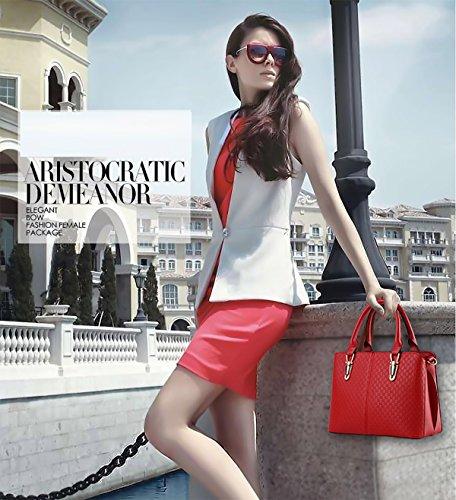 Sunas 2017 nuova borsa semplice portafoglio La signora borse in rilievo spalla casuale della borsa del messaggero della borsa rosso