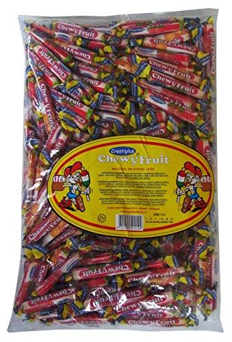 Kaubonbon Fruchtrollen 4g als Wurfmaterial, für Kindergeburtstag und Büro, 250er Pack (250 x 4g)