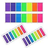 560 Piezas Notas Adhesivas Índices Pequeños Etiquetas Grabable Tiras de Resaltador de Texto Marcador de Página, 2 Tamaños, 7 Colores, 4 Sets