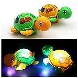360 Grad Drehung elektrische Schildkröte Spielzeug mit LED blinkt und Musik leuchtende Schildkröte Spielzeug Geschenk für Kinder Baby Kleinkinder batteriebetrieben