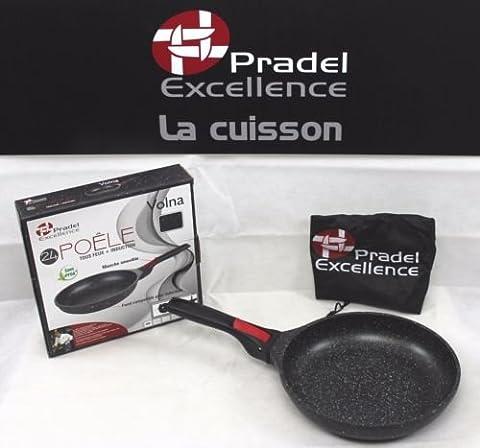 Pradel Excellence - Gamme luxe Volna- Poêle 24 cm revêtement pierre - manche amovible - Garanti sans PFOA