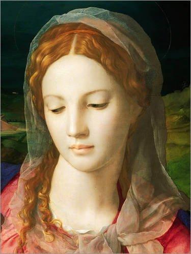 Poster 30 x 40 cm: Jungfrau Maria von Agnolo Bronzino - hochwertiger Kunstdruck, neues Kunstposter