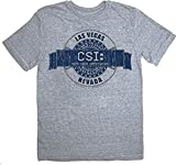 CSI Crime Scene Investigation Las Vegas Badge Gray T-Shirt Tee - S