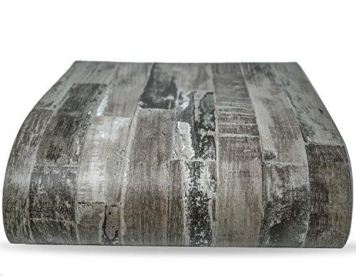 (Dunkelgrau Altes Holz Vinyl Boden Kontakt Papier selbstklebend Bodenbelag Fliesen Aufkleber Decor 12Blatt)