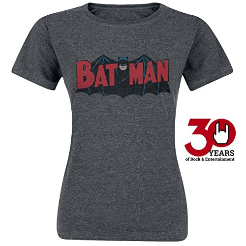Batman Authentic Logo Maglia donna grigio scuro XL