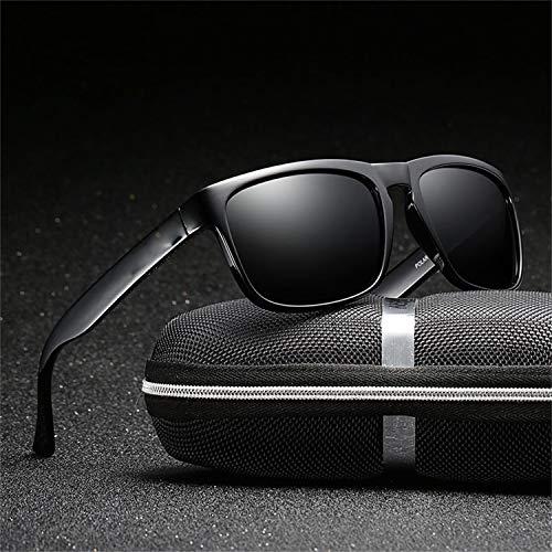 AOCCK Sonnenbrillen,Brillen, Polarized Sunglasses Men's Driving Sun Glasses For Men High Quality Retro Luxury Brand Designer Zipper Box 730 Zipper Box 730 10