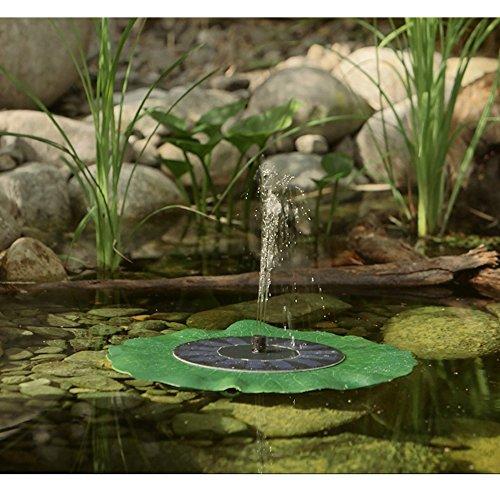 Egomall Wasserpumpe Brunnen Blatt Solar Schwimmender Lotus Teich-Garten Dekoration - 2