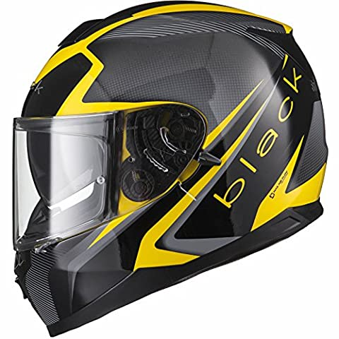 Black Titan SV Edge Motorcycle Helmet L Black/Yellow