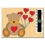 5x Sparpack der Liebe Herz Teddy Baby Kinderzimmer & Raum Sicherheit Thermometer Karten