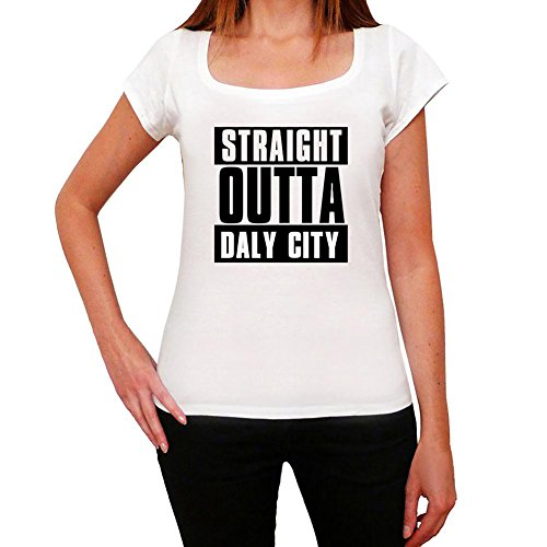Straight Outta Daly City, t-shirt damen, stadt tshirt, straight outta tshirt
