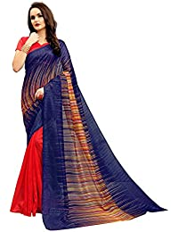 [Sponsored Products]Glory Sarees Women's Bhagalpuri Art Silk Saree(vnart-33_red_blue)