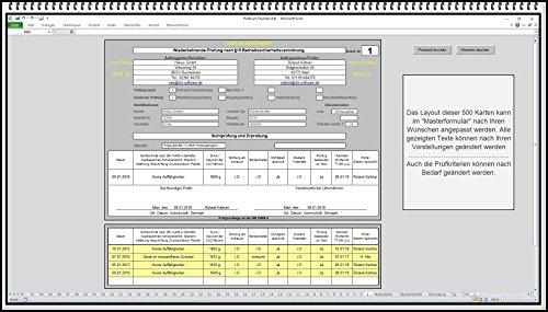 Prüfvorlage Prüflisten Wartungskarte Wartungsprogramm Wartungssoftware für Feuerlöscher DIN 14406-4 Dokumentation wiederkehrende Prüfung Wartung Instandhaltung CO2 Wasser Schaumfeuerlöscher prüfen. Selbstständige Existenzgründer (Wartung Software)
