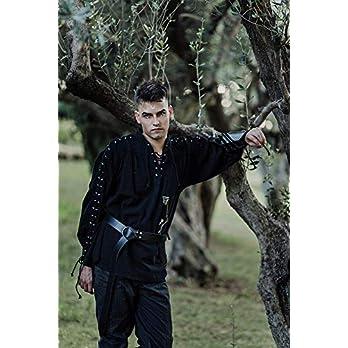 Herren hemd Renaissance Bauer Baumwollhemd Steampunk Pirate Fantasy Mittelalter Renaissance Kostüm Cosplay