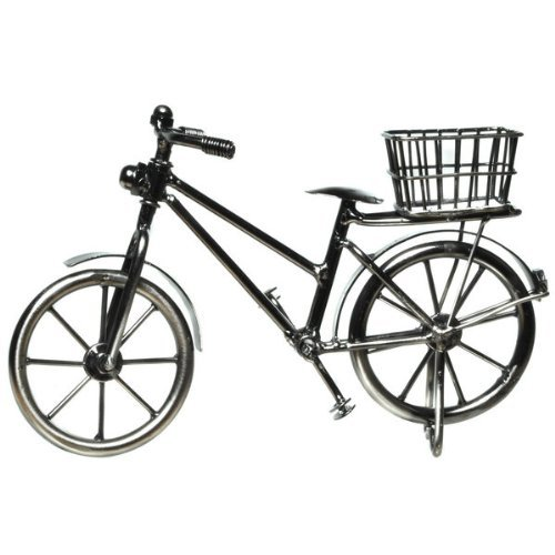 Preisvergleich Produktbild Deko Fahrrad mit Korb 11 x 18 cm