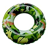 Sensexiao Aufblasbare PVC Camouflage Schwimmring Pool Float Sitz für Erwachsene Kinder Kinder Mädchen Jungen Wasserspielzeug (Größe : M)
