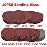 10PCS 5,1cm 80–3000Grit dischi abrasivi levigatrice 50mm dischi abrasivi lucidatura set–1200#