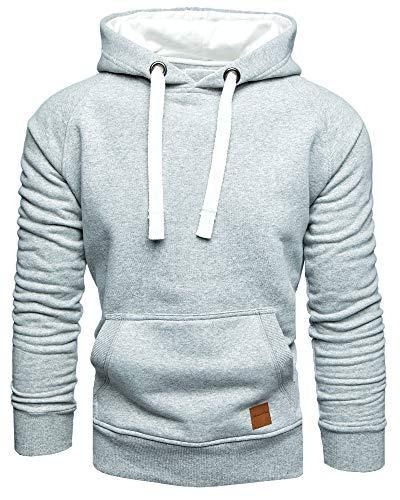 Und 1 Pullover (Amaci&Sons Herren Basic Kontrast Kapuzenpullover Sweatjacke Pullover Hoodie Sweatshirt 1-04027 Hellgrau XL)