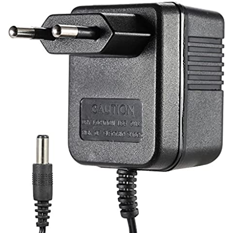 ammoon Enchufe de la EU 100-240V AC a DC 9V 250mA Fuente de Alimentación Adaptador Convertidor del Cargador para Guitarra Pedal de Efectos y Teclado