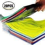 Organisateur d'armoires, Dossier et Chemise de t-Shirt de Taille Normale, 20 pièces (PVC)