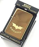 Batman Star Gold Lighter + Novelty 59mm Badge (Tg27)