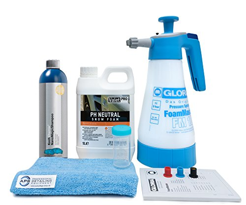 Gloria Foam Master FM10 + ValetPro Snow Foam + Koch Chemie NanoMagic Shampoo + Zubehör (Nano Autopflege)
