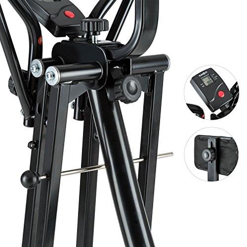Klarfit Bogera X Crosstrainer Air Walker Heimtrainer (Ergometer, Trainingscomputer mit LCD-Display, klappbar, 100 kg max.) schwarz - 4