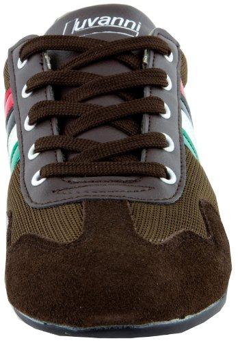 LUVANNI Sneaker baskets mode, chaussures de sport des hommes de cuir veritable Brun