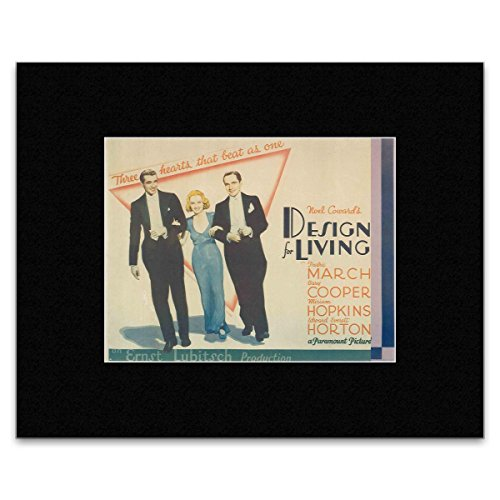 DESIGN OF LIVING - Fredric March Gary Cooper and William Hopkins Matted Mini Poster - 18.1x24cm (Gary Cooper-poster)