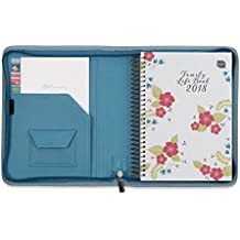 2018 Boxclever Press Family Life Book A5 diary in a faux leather cover. Start straight away and use until December 2018. Flexible diary layout with seven columns. Week-to-view. (Marlin Blue)
