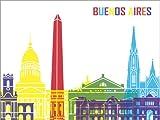 Poster 130 x 100 cm: Buenos Aires von Editors Choice - Hochwertiger Kunstdruck, Neues Kunstposter