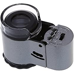 TOOGOO(R) 50 specialiste Mini microscope a poche Loupe Microscope a LED avec fonction de test de lampe contrefacon