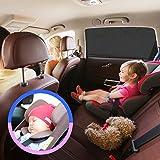 Couverture pare-soleil de fenêtre de voiture Auto Luxuria universel - Protection anti-UV pour votre bébé / nourrisson / enfants / animaux de compagnie contre les rayons du soleil intenses. Adapter aux voitures & la plupart des VUS + BONUS D'UN SUPPORT DE BOITE A MOUCHOIRS DE SIEGE DE VOITURE !
