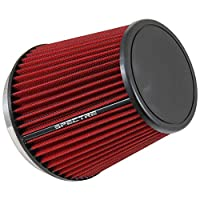 Spectre Performance HPR0892 Universal Clamp-On Air Filter: Round Tapered; 6 in (152 mm) Flange ID; 7 in (178 mm) Height; 7.313 in (186 mm) Base; 5.125 in (130 mm) Top