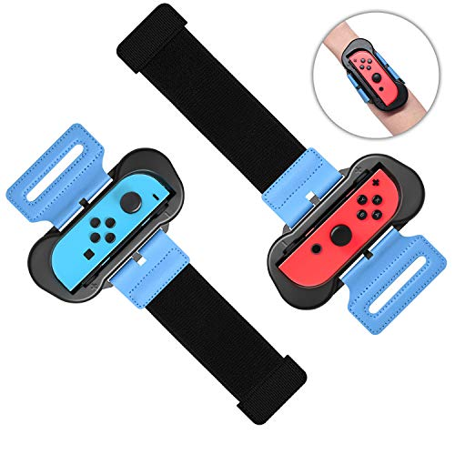 [2Pack] Just Dance 2020 - Brazalete para Nintendo Switch Joy con Controlador, FASTSNAIL Dance Wrist Band Straps Armbinde Gurtte Tanzgriff Grips para Just Dance 2020 Switch para Adultos y niños