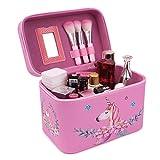 Beauty Case Kosmetiktasche Reise Kulturtasche Kulturbeutel Make Up Bag Kosmetikkoffer 17x15x23cm Groß (Einhorn rosa)