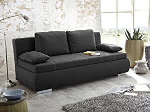 dauerschl fer schlafsofa merlin 210x112cm dunkelgrau sofa boxspring couch doppelliege. Black Bedroom Furniture Sets. Home Design Ideas