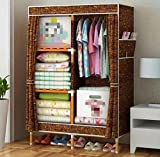 Best Home Double Rod Portable Closet Organizers - ALJL Portable Clothes Closet Oxford cloth Wardrobe Double Review