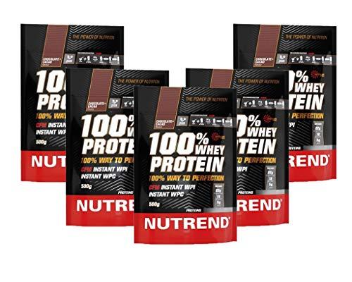 Proteína Whey de suero en polvo Nutrend 100% de la fresa por Nutrend 500g espectro perfecto de aminoácidos con alto valor biológico en este producto de vanguardia