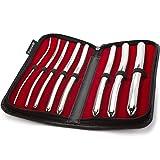 Purovi® Set di 8 DILATATORI URETRALI in Acciaio Inox | Diametro da 3 mm a 18 mm | Dilatatore uretra | Elegante astuccio nero incluso