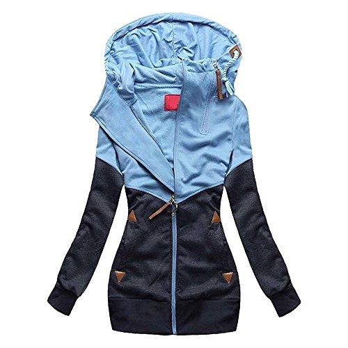 Huateng - Sweat-shirt - Femme Bleu Marine
