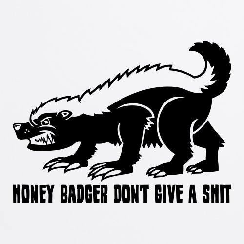 Meme Honey Badger T-Shirt, Herren Wei
